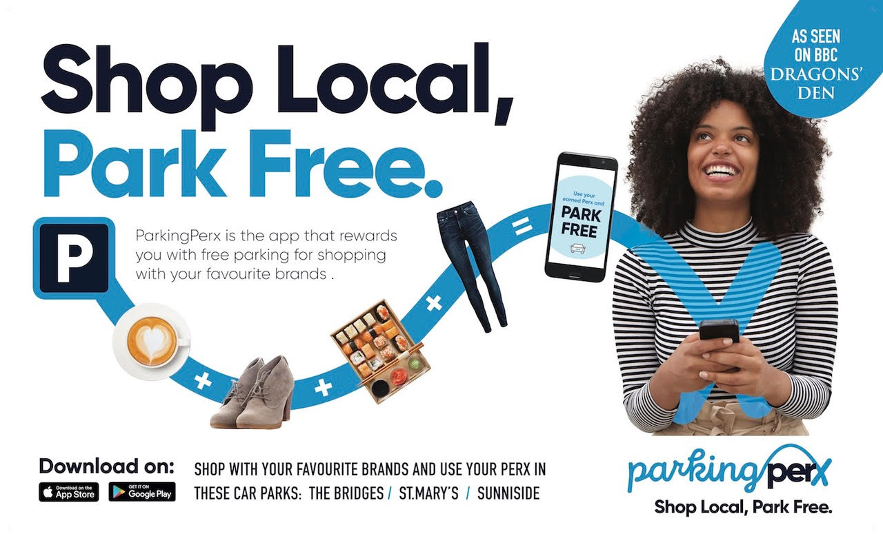 ParkingPerx. Shop local, park free.